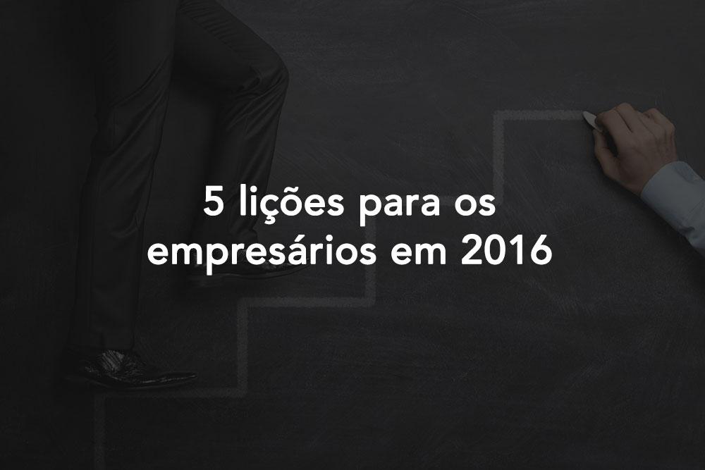 Licoes para Empresarios Em 2016